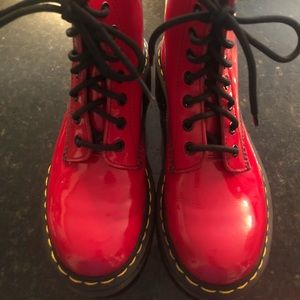 Dr. Martens Cherry Red Boots  Style 1460/Size US 7